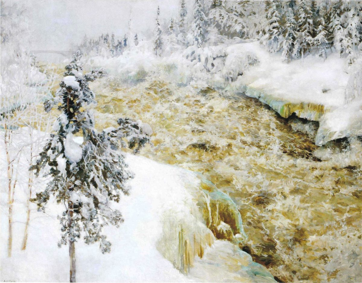 Imatra Falls in Winter