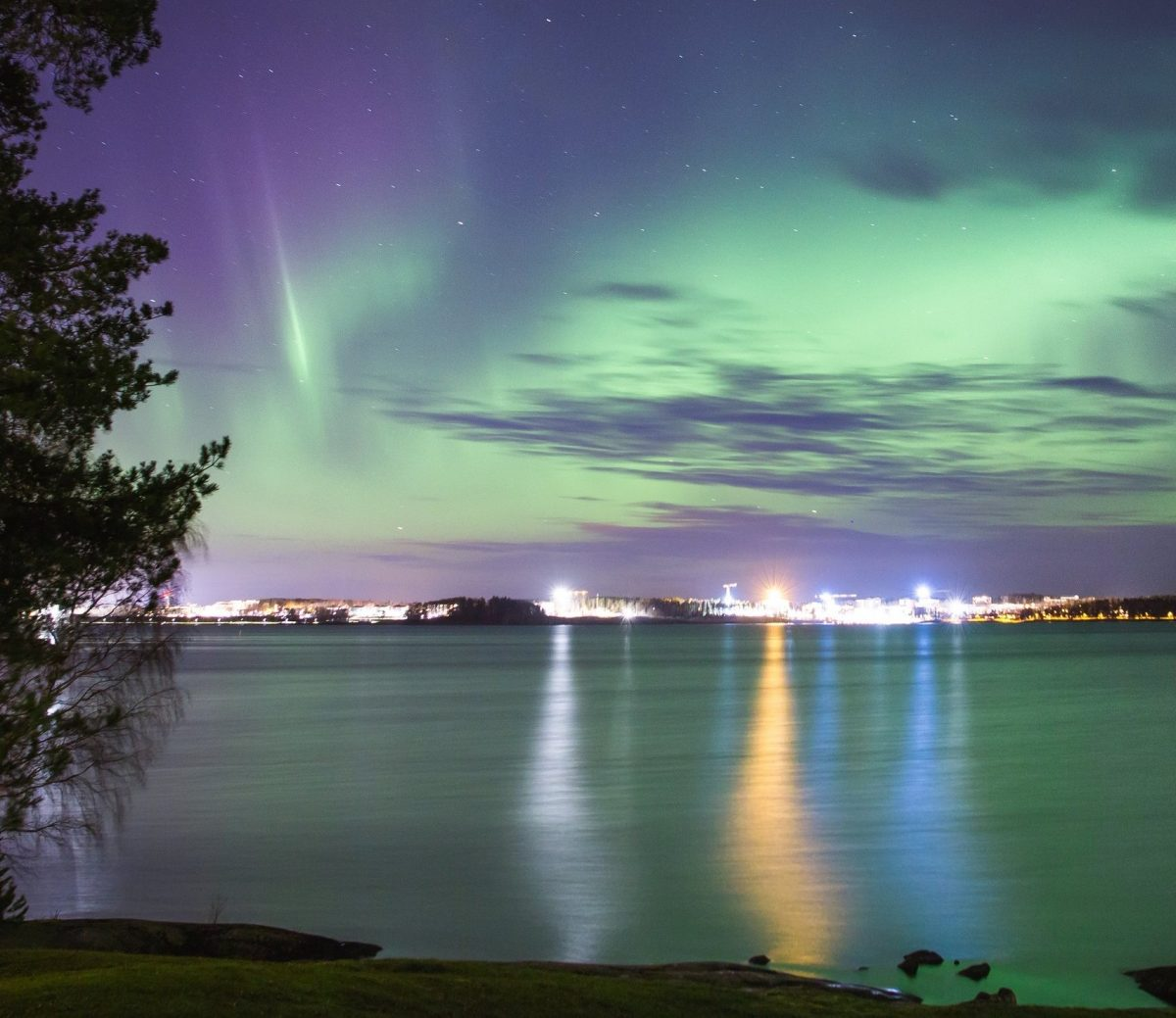 Northern Lights over Tampere