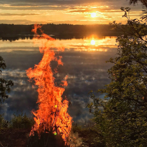 finnish midsummer bonfire