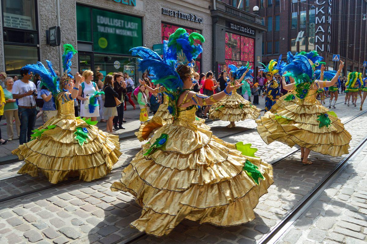 Samba carnival on the streets of Helsinki