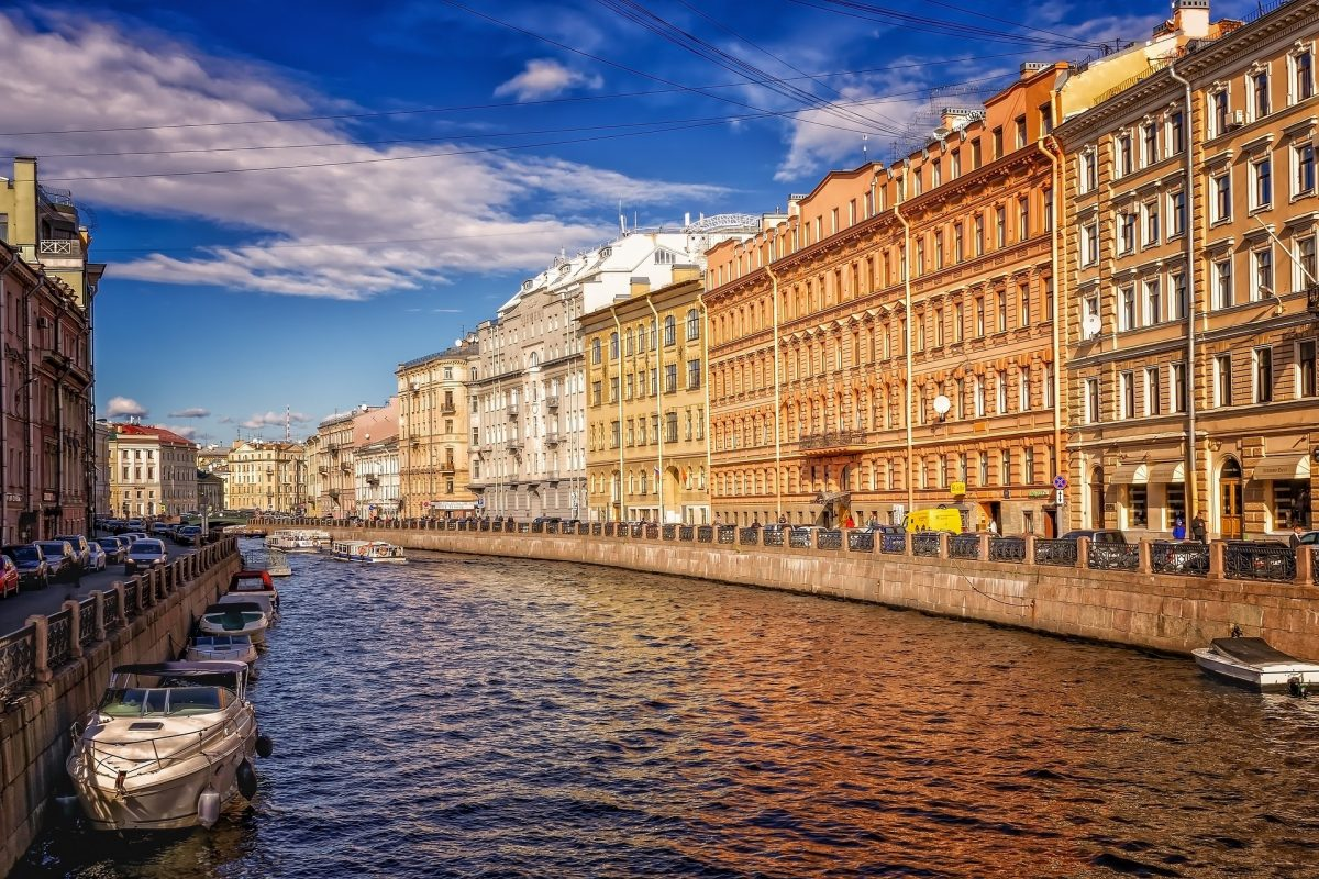 Waterway through St. Petersburg