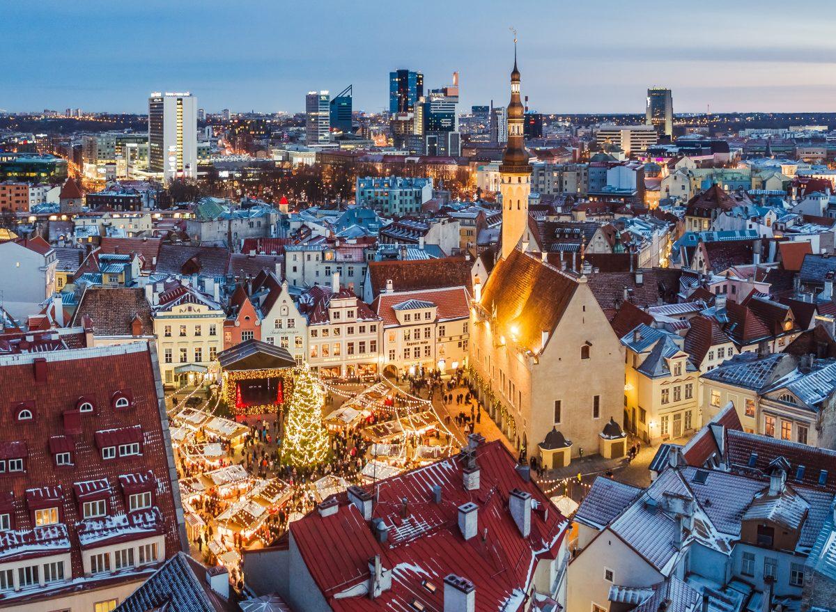 Wintery Tallinn Christmas Market