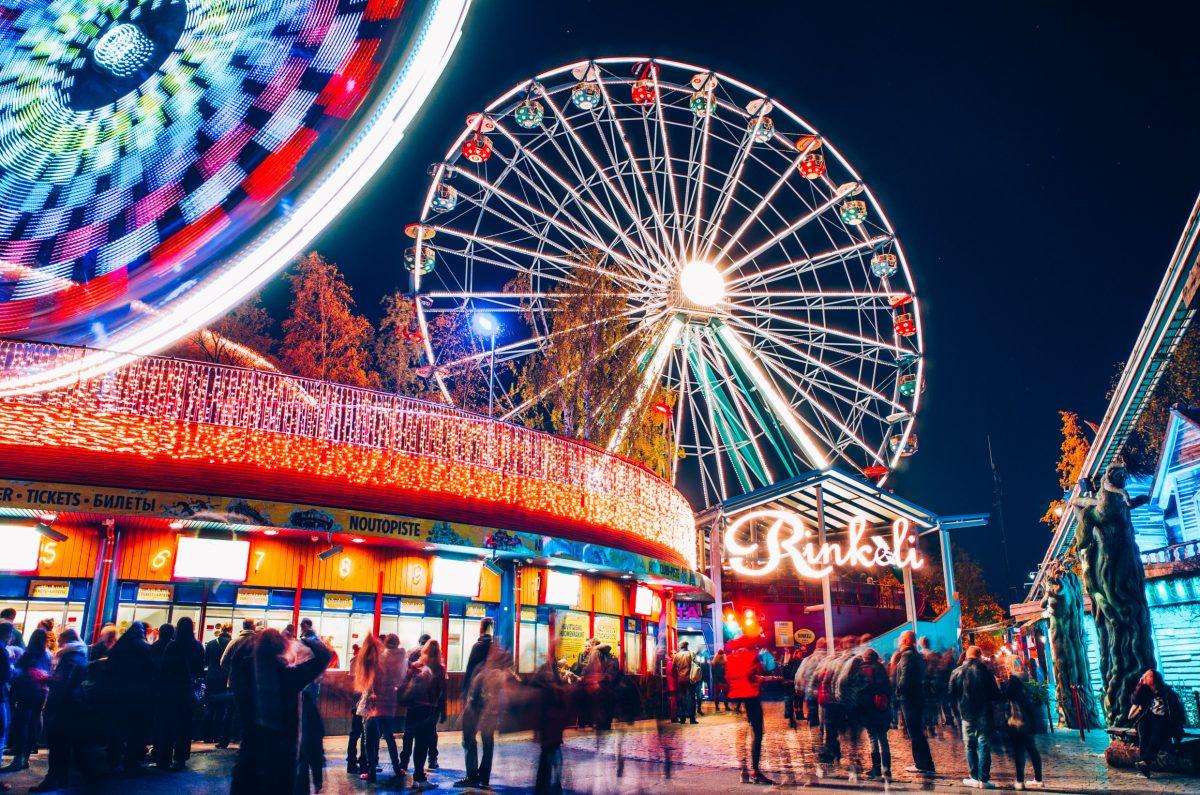 Lights at the Linnamäki Amusement Park